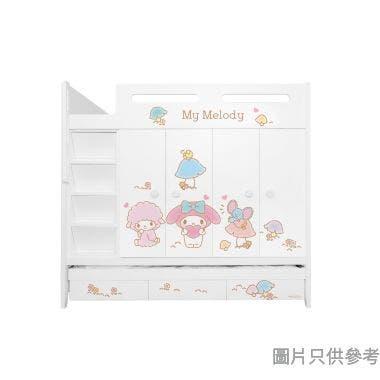 Sanrio CTD-WB01 多功能組合床(七櫃桶,子床及衣櫃) My Melody-A (面向計左面梯)