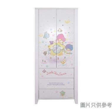 Sanrio CTD-WB0236 36吋雙門三櫃桶衣櫃  Little Twin Stars-B
