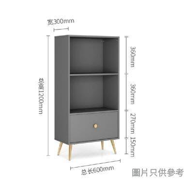 NELLY 兩層書架配單櫃桶600W x 300D x 1200Hmm